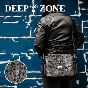 ショルダーバッグ メンズ 本革 レザー クロコダイル ワニ革 鰐   Deep Zone プレゼント ギフト|cowbell