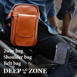 ショルダーバッグ メンズ カジュアル ビジネス 本革 レザー 2wayバッグ ショルダー ベルトバッグ オイルレザー 牛革 DEEP ZONE プレゼント ギフト|cowbell