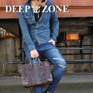 ハンドバッグ トートバッグ メンズ 本革 レザー クロコダイル ワニ革  Deep Zone プレゼント ギフト|cowbell