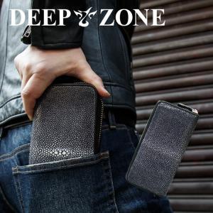 長財布 ロングウォレット メンズ スティングレイ カジュアル ビジネス エイ 本革 Deep Zone プレゼント ギフト|cowbell