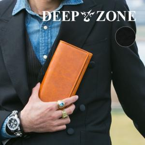 長財布 ロングウォレット メンズ イタリアンレザー カジュアル 薄マチ ビジネス 牛 本革 Deep Zone プレゼント ギフト|cowbell