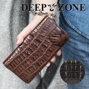 長財布 ロングウォレット メンズ ワニ革  本革 Deep Zone プレゼント ギフト|cowbell