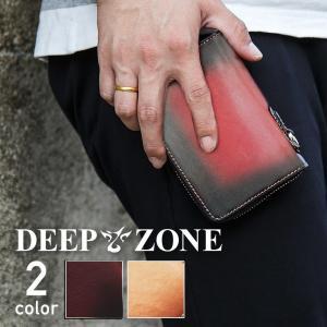 財布 短財布 ラウンドファスナー メンズ ヌメ革 サドルレザー ドロップハンドル付き|cowbell