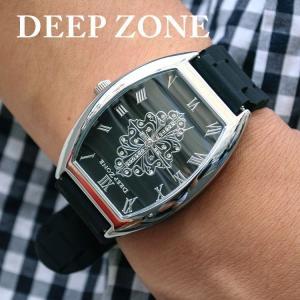 腕時計 ブレスウォッチ ラバーブレス Deep Zone トノーフェイス ジルコニア シルバーフェイス リリィコンチョ 専用ボックスあり プレゼント ギフト|cowbell