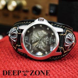 腕時計 メンズ カジュアル ビジネス ジルコニアクロス 文字盤 イタリアン レザー ベルト クロスコンチョ 国産ムーヴメント 保証書付き プレゼント ギフト|cowbell