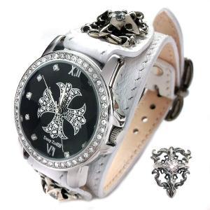 腕時計 メンズ カジュアル ビジネス ホワイトレザーベルト ブレスウォッチ ホワイトメタルコンチョ 保証書付き 生活防水 プレゼント ギフト|cowbell