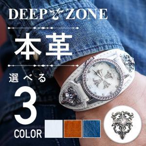 腕時計 メンズ 本革 イタリンレザー ベルト シェル クロス 文字盤 クロスコンチョ カジュアル腕時計|cowbell