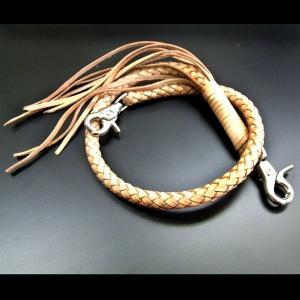 ウォレットチェーン レザーウォレット 本革 ベージュレザーウォレットロープ [WHC-062BG] プレゼント ギフト|cowbell