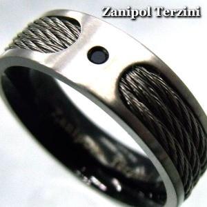 ステンレスリング 指輪 リング メンズ Zanipolo Terzini ザニポロ タッツィーニ 【ZTR-1015 】 プレゼント ギフト|cowbell