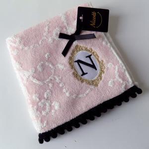 アルファベット タオルハンカチ「N」(ラッピング付き) タオルハンカチ プチギフト ホワイトデー ギフト 内祝い お返し 誕生日 ハンドクリーム プレゼント 女性|cozymom