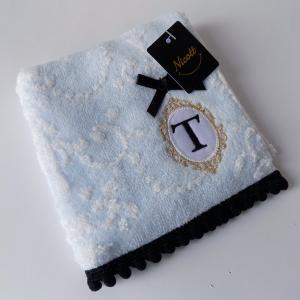 アルファベット タオルハンカチ「T」(ラッピング付き) タオルハンカチ プチギフト ホワイトデー ギフト 内祝い お返し 誕生日 ハンドクリーム プレゼント 女性|cozymom