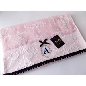 アルファベット フェイスタオル「A」(ラッピング付き) タオルハンカチ プチギフト ギフト 内祝い お返し 誕生日  プレゼント 女性プレゼント 女|cozymom