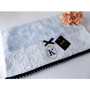 アルファベット フェイスタオル「K」(ラッピング付き) タオルハンカチ プチギフト ホワイトデー ギフト 内祝い お返し 誕生日  プレゼント 女性プレゼント 女|cozymom