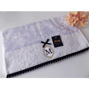 アルファベット フェイスタオル「M」(ラッピング付き) タオルハンカチ プチギフト ホワイトデー ギフト 内祝い お返し 誕生日  プレゼント 女性プレゼント 女|cozymom