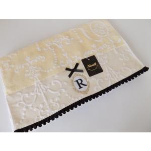 アルファベット フェイスタオル「R」(ラッピング付き) タオルハンカチ プチギフト ホワイトデー ギフト 内祝い お返し 誕生日  プレゼント 女性プレゼント 女|cozymom
