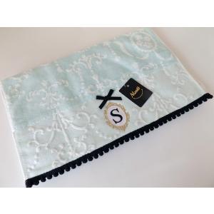 アルファベット フェイスタオル「S」(ラッピング付き) タオルハンカチ プチギフト ホワイトデー ギフト 内祝い お返し 誕生日  プレゼント 女性プレゼント 女性|cozymom