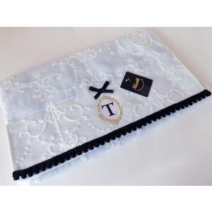 アルファベット フェイスタオル「T」(ラッピング付き) タオルハンカチ プチギフト ギフト 内祝い お返し 誕生日  プレゼント 女性プレゼント 女|cozymom