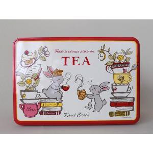 (カレルチャペック) Tea Lovers缶(ティーバッグ20p)ラッピング付き誕生日 プチギフト 出産 結婚 内祝いお返し 紅茶ギフト 景品 ご挨拶 引越|cozymom