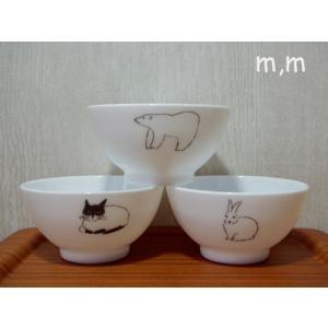 松尾ミユキ 食器 Milk Glass Bowlシリアルボウル アニマル ミルクガラス|cozymom