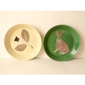 松尾ミユキ 陶器プレート S(Plate)パン皿 デザート皿 皿 取り皿 お皿 うさぎ ラビット 鳥 bird 誕生日 かわいい 松尾みゆき 結婚祝い 贈り物 内祝い 引っ越|cozymom