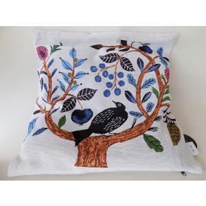 松尾ミユキMM334 クッションカバー バード ツリー cushion cover birdtree interiorバード 鳥柄 インテリア  贈り物  誕生日プレゼント  かわいい 可愛い 女性|cozymom