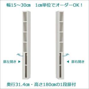 ラスコ セミオーダー 収納家具 壁面収納 収納棚 扉付 幅15cm〜30cm cozyroom