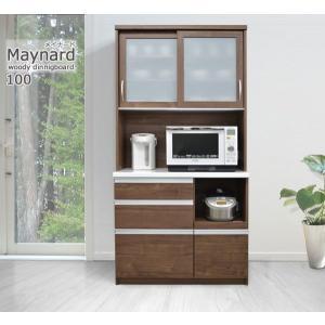 食器棚 キッチン収納 キッチンボード 100cm メープル ホワイト ウォールナット|cozyroom