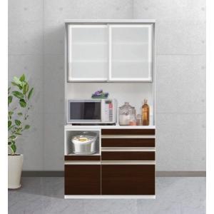 食器棚 キッチン収納 キッチンボード エスコート 105cm 6色|cozyroom