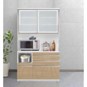 食器棚 キッチン収納 キッチンボード エスコート 120cm 6色|cozyroom