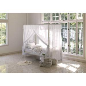 お姫様ベッド 天蓋ベッド ホワイト|cozyroom