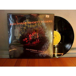 BUD SHANK/SHORTY ROGERS●CALIFORNIA CONCERT シュリンク付きC-14012●210106t3-rcd-12-jzレコード米盤ジャズ cozyvintage
