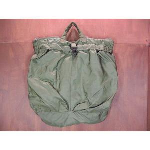 ビンテージ80's●ミリタリーヘルメットバッグ●210109n5-bag-hnd 米軍実物ハンドバッグナイロンカバン cozyvintage