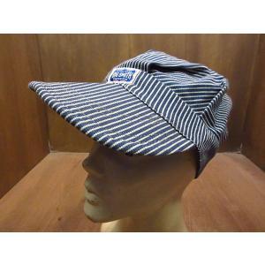 ビンテージ60's●BIG SMITHヒッコリーストライプワークキャップ●210110n5-m-cp-wk 1960sビッグスミスコットン帽子メンズ|cozyvintage