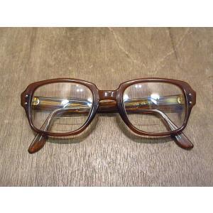 ビンテージ●USSセーフティ眼鏡茶●210111n1-eygls ミリタリー米軍実物ブラウンスクエア cozyvintage
