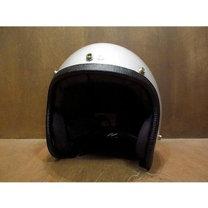 ビンテージ70's●NORCON TW-1 ジェットヘルメット シルバー XL●210113n4-hlmt モーターサイクルバイク雑貨ディスプレイ cozyvintage