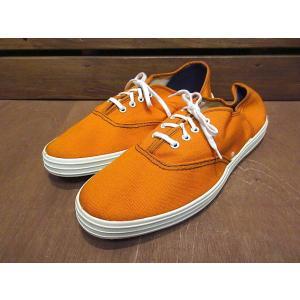 ビンテージ70's●DEADSTOCK Kratonレディースキャンバススニーカー橙size 7●210122n7-w-snk-24cmデッドストックオレンジ古靴USA製|cozyvintage