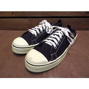 ビンテージ70's●DEADSTOCK Kratonレディースキャンバススニーカー黒size 7 1/2●210122n8-w-snk-255cmデッドストック古靴USA製ブラック|cozyvintage