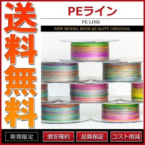PEライン 5色4本組 300m巻 0.4号 0.6号 0.8号 1号 1.5号 2号 2.5号 3...