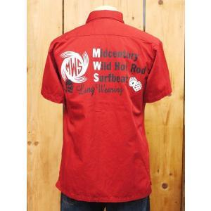 MWS  CUSTOM ワークシャツ レッド No.1513005|craft-ac