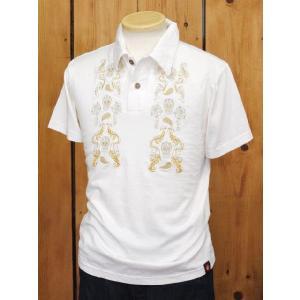 MWS MEXCAN KUSTOM 半袖ポロシャツ ホワイト No.1514902|craft-ac