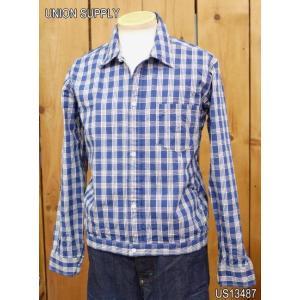 ユニオンサプライ US13487 パラカチェックシャツジャケット PALAKA CHECK SHIRT BLOUSE|craft-ac