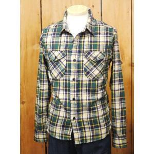ウエス ネルシャツ UES 先染スラブネルシャツ グリーン No,501455|craft-ac