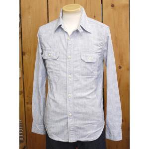 ウエス UES インディゴストライプワークシャツ ライトインディゴ No,501602|craft-ac