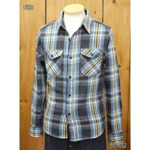 ウエス ネルシャツ UES 先染ヘビーネルシャツB ブラック No,501652|craft-ac