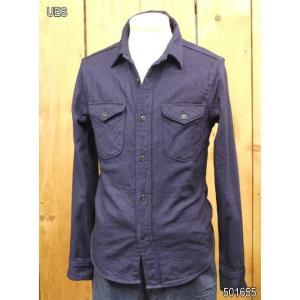 ウエス 無地ネルシャツ UES インディゴヘビーネルシャツ No 501655|craft-ac