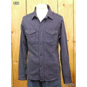 ウエス ネルシャツ UES インディゴストライプネルシャツ No 501656|craft-ac