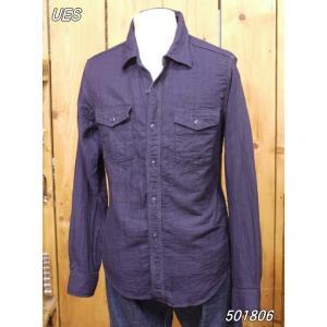 ウエス ダブルガーゼワークシャツ インディゴ No 501806|craft-ac