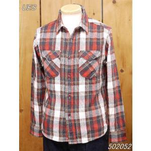 ウエス ネルシャツ UES 先染ヘビーネルシャツ レッド No 502052|craft-ac