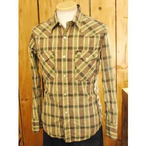 UES/ウエス ドビーウエスタンシャツ グリーン アメカジシャツ|craft-ac