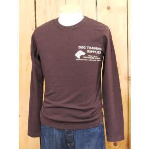 ウエス ロンT UES DOG ロングTシャツ ダークブラウン  No,601353|craft-ac